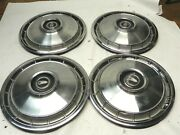 1966-67 Plymouth Valiant 13-inch Hubcap Wheelcovers Vintage Oem Lot Of 4 Used