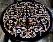 42 X 42 Inches Black Kitchen Table Top Exclusive Design Inlaid Coffee Table