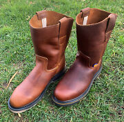 Menandrsquos Pull On Mexican Hand-made Work Brown Boots Bota Trabajo Hombre Ruper