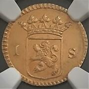 [mint] Gold Netherland Holland Coin Ngc Cert 1.75g 1726 From Japan Ms63