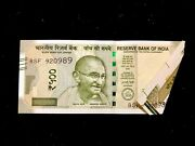 Rs 500/-india Banknote Misprint/error Extra Paper Latest Issue Flap Error