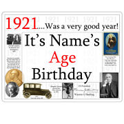 100th Birthday Party Supplies Age 100 1921 Custom Banner Yard Sign Icing
