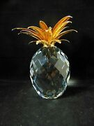 Crystal Mint Giant Pineapple Gold Leaves 7507 260 001 / 10116 Mib Rare