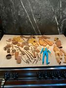 Vintage Lot Of Mego Action Figures, Outfits, Suits Etc Johnny West For Parts