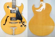 Used 1970s Greco N60 Natural Mij Vintage Electric Guitar Hollow Player Grade