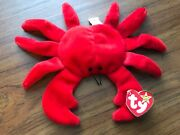 Ty Original Digger The Red Crab With All Errors Rare Retired Collectible