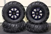 Renegade 800 27 Mud Lite Ii 14 St-4 Blue / Blk Atv Tire And Wheel Kit Can1ca