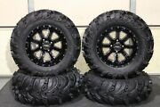 Grizzly 660 27 Mud Lite Ii 14 St-4 M / Blk Atv Tire And Wheel Kit Irs1ca