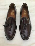 Alden For Brooks Brothers Shell Cordovan Color 8 Tassel Loafers 10 D New