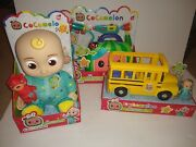 Cocomelon Bundle Jj Doll Doctor Checkup And Wheels On Bus Set Free Shipping