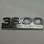 3800 Tuned Port Injection Buick Regal Oem Trunk Emblem Badge Decal Chrome