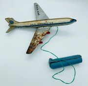 Vintage 1960's Pan Am Clipper N80ipa Battery Operated Haji Japan Made Tin Toy