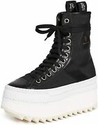 R13 Womenand039s Tall Platform Nylon Winter High Top Sneakers