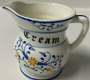 Vintage Heritage By Royal Sealy Blue Onion Creamer - Small Pitcher - Numbered