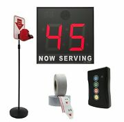 Take-a-number System W/ Floor Stand Ticket Dispenser, 2-digit, 8 In. Display