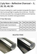 Tint Depot Auto/ Boat / Tractor Window Film Privacy