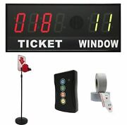 Brg Take-a-number Syst. W/floorstand Ticket Dispenser, 6-digit, 4andquot Display