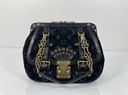 Louis Vuitton Limited Edition Velours Alligator Gracie Gm In Black Satchel Tote