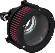 Trask Black Assault Charge High-flow Air Cleaner For 1991-2020 Harley Sportster