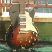 Used And03950s-and03960s Truetone Unknown Model Vintage Electric Guitar Hollow Dearmond Pu