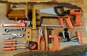 Black Decker Kids Play Tools Toy Drill Screwdrivers, Hammer And Wrench And Etc.