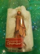 Ornaments To Remember Guardian Angel Copper - Artisan Hand-crafted Glass - New