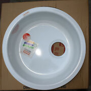 Discontinued Franke Rotondo 17 1/8and039 Round White Drop-in Sink Rbc-110 New In Box