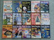 Lot Of 15 Popular Electronics Magazines Technology Stereo Computers Tv