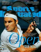 Roger Federer Signed Autograph 8x10 Photo - Sports Illustrated Image, Beckett