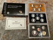 2012-s Us Mint Silver Proof 14 Coin Set W/original Coa And Box New