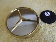 One Mercedes Benz 450 Sl 500 Sel 6 Gold Lug Nuts Cover Wheel Center Cap 420 Sel