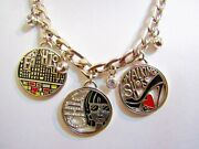Brighton Retired Fashion Chic Walking Shoes 3 Pendants-thick Chain-with Tin