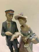 Lladro Limited Edition 50/2000 And Signed 01008008 Station Master Man Woman
