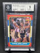 1986 Fleer Kareem Abdul Jabbar 1 Bgs 9 True Mint 9.5 Surface Lakers Goat
