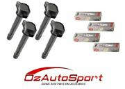 4 X Spark Plugs And 4 X Ignition Coils For Honda Accord Euro Cu2