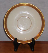 Discontinued Lenox China Lowell Pattern Saucer Only For Footed Tea Cup Mint