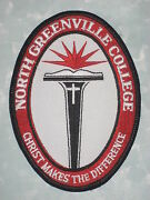 North Greenville College Patch - Christ Makes The Difference 3 1/2 X 4 3/4