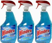 Windex Powerized Glass Cleaner Trigger Spray Bottle With Ammonia-d, 32 Oz. 3 Ct