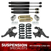 3/4 Drop Lowering Kit W/ Shocks Spindle Springs For 1982-2004 Chevy S10 V6