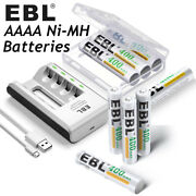 Aaaa Rechargeable Batteries Ni-mh Lot 1.2v 400mah / 4solt Smart Battery Charger