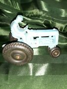Auburn Toy Rubber Company Vintage Blue Tractor With Farmer