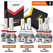 Lasfit Led 9005 H11 High Low Beam Headlight H16 Switchback Fog Light Bulbs Combo