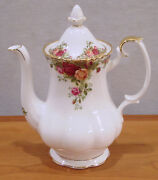 Royal Albert By Royal Doulton Old Country Roses Pattern Coffee Pot 6 1/4 New