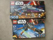 Lego 75102 Star Wars Poe X-wing And 75149 Resistance X-wing Both Mint Sealed Sets