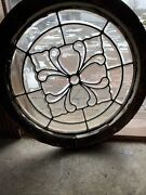 Sg3629 Antique All Beveled Glass Round Window 28.75 Dia With Jam