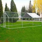 Large Walk In Chicken Coop Hen House Enclosure Backyard Poultry Cage Xl W/ Cover