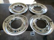 40 41 42 43 44 45 46 47 48 Ford Chrome Wheel Trim Rings Fat Wide Style