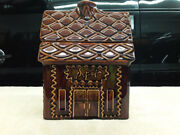 Vintage Hull Brown Drip Pottery Gingerbread Junction Train Depot
