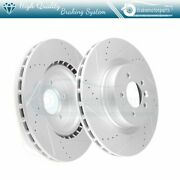 Front Brake Rotors Drilled And Slotted Kit For Land Rover Range Rover Sport