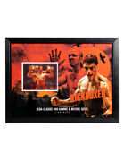 Framed Print Signed By Jean-claude Van Damme And Michel Qissi 100 Authentic + Coa
